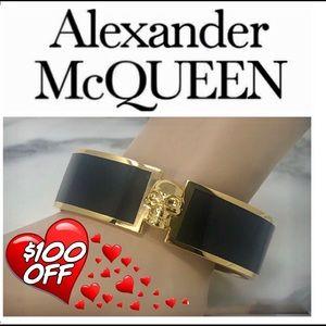 Authentic Alexander McQueen Skull Clasp Bracelet.